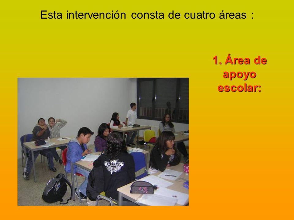 Esta intervención consta de cuatro áreas :
