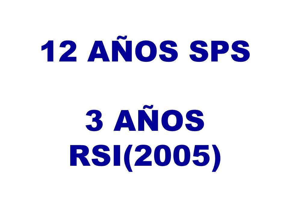 12 AÑOS SPS 3 AÑOS RSI(2005)