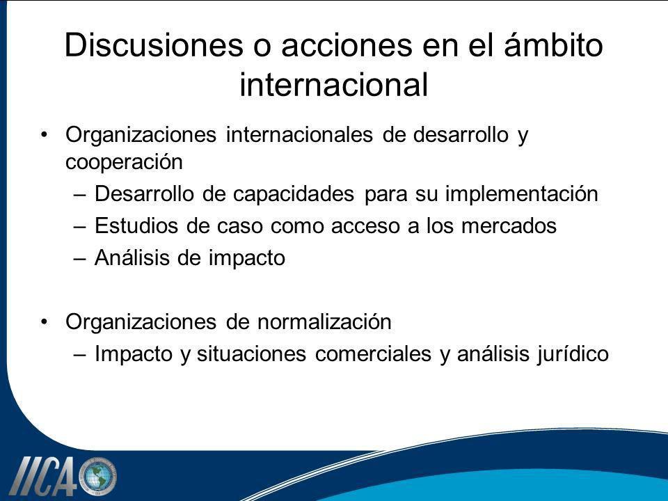 Discusiones o acciones en el ámbito internacional
