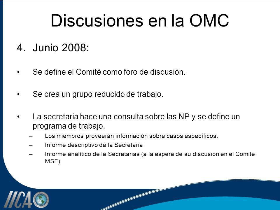 Discusiones en la OMC Junio 2008: