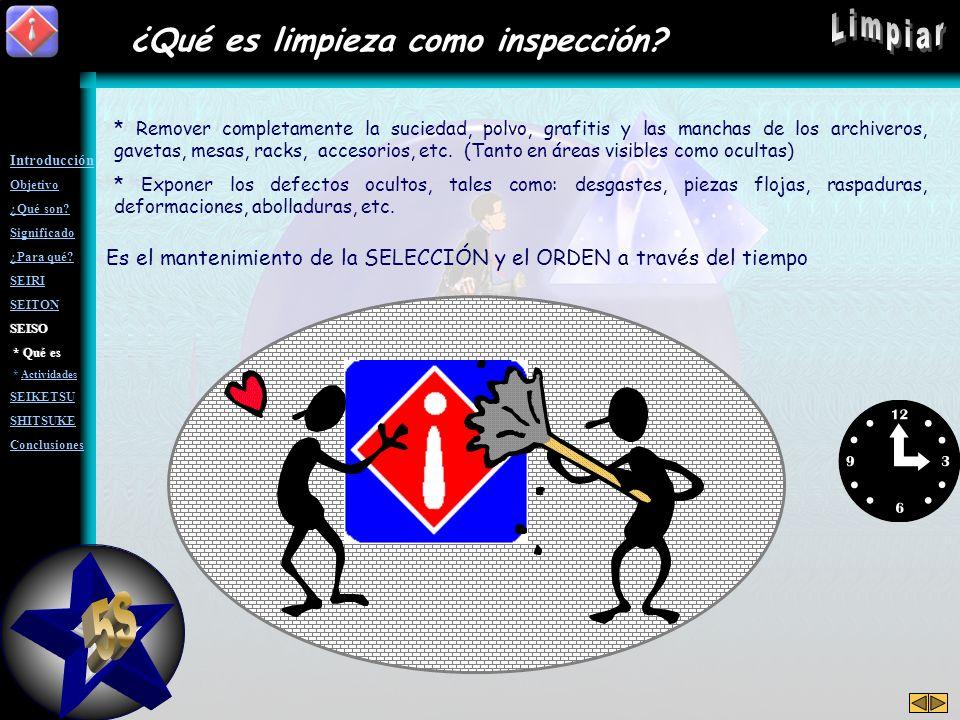 5S Limpiar ¿Qué es limpieza como inspección