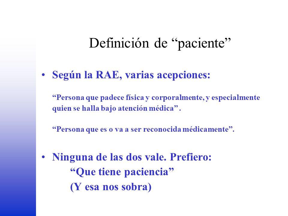 Definición de paciente