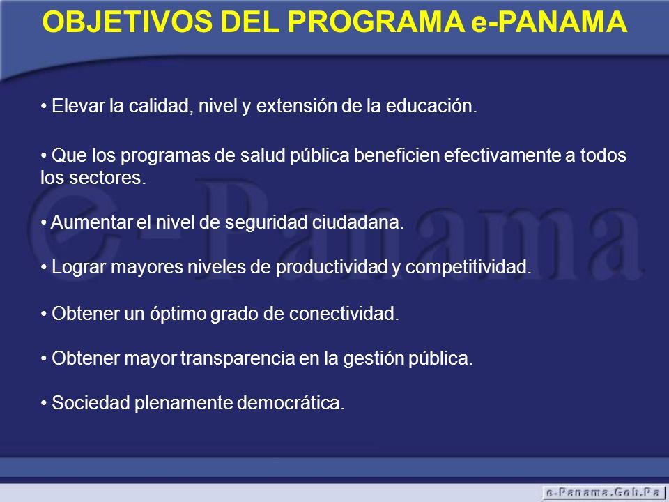 OBJETIVOS DEL PROGRAMA e-PANAMA