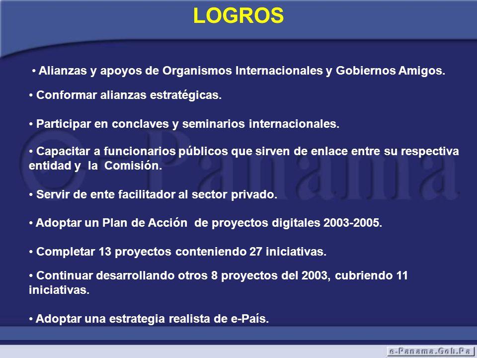 Alianzas y apoyos de Organismos Internacionales y Gobiernos Amigos.