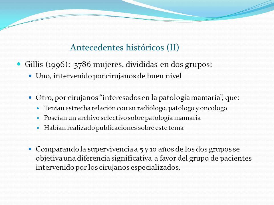 Antecedentes históricos (II)