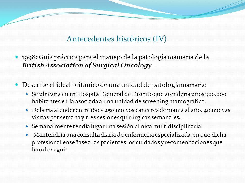 Antecedentes históricos (IV)