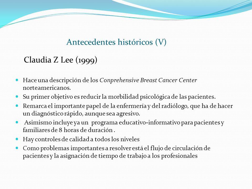 Antecedentes históricos (V)