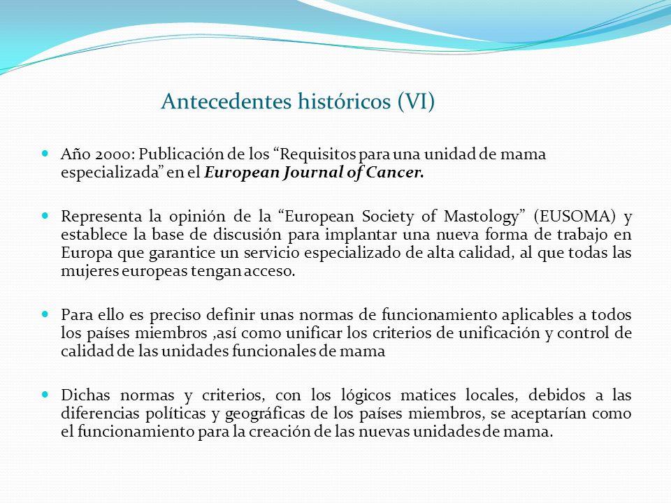 Antecedentes históricos (VI)
