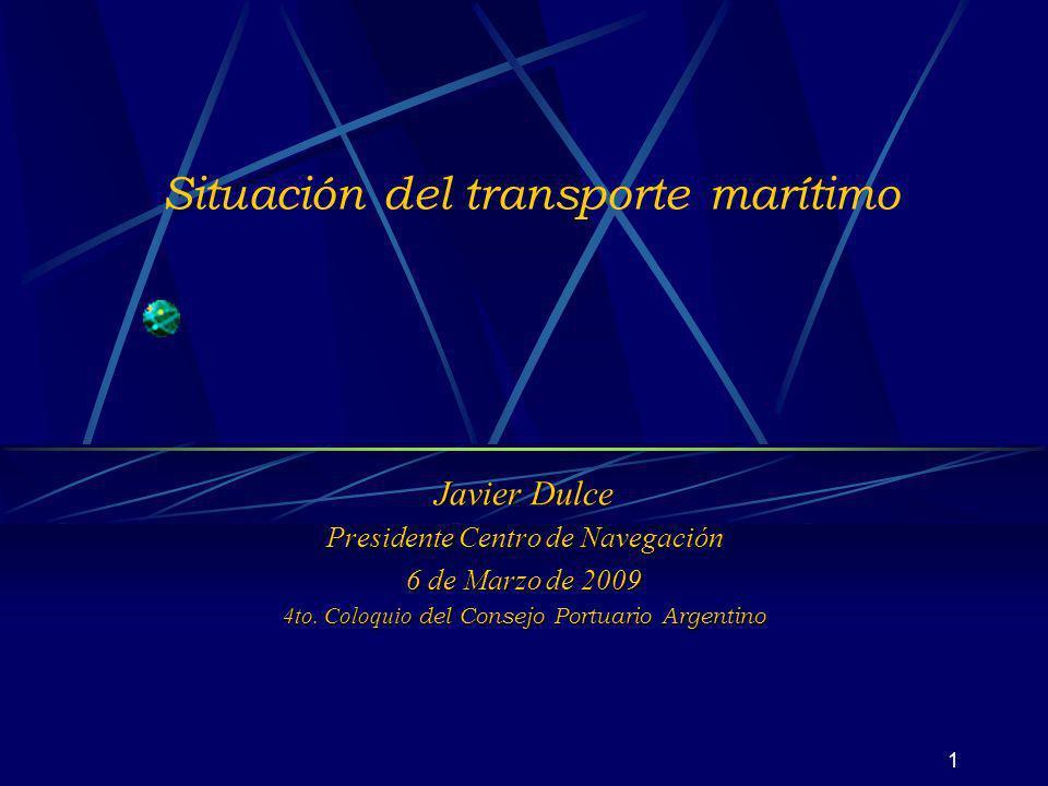 Situación del transporte marítimo