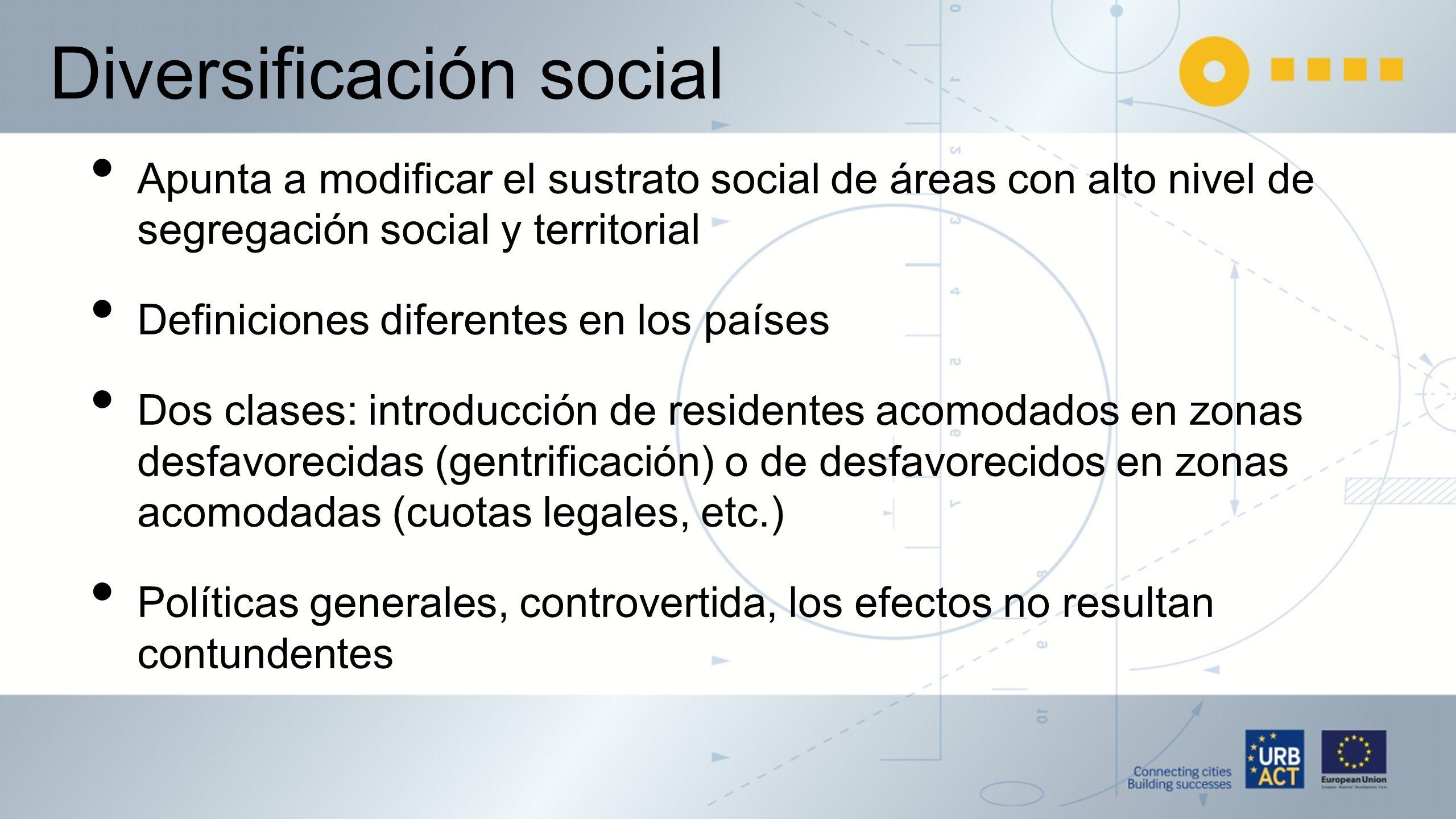 Diversificación social