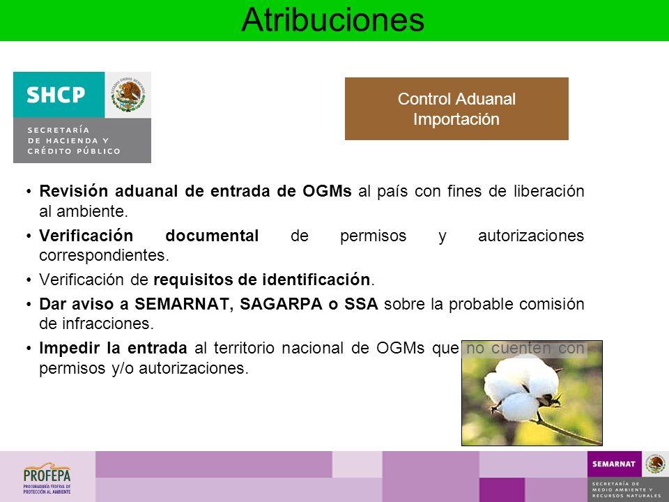 Atribuciones Control Aduanal Importación