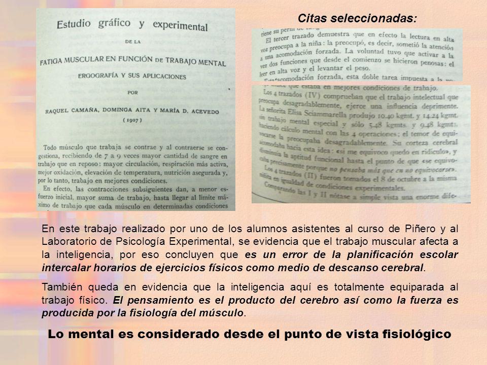 Lo mental es considerado desde el punto de vista fisiológico
