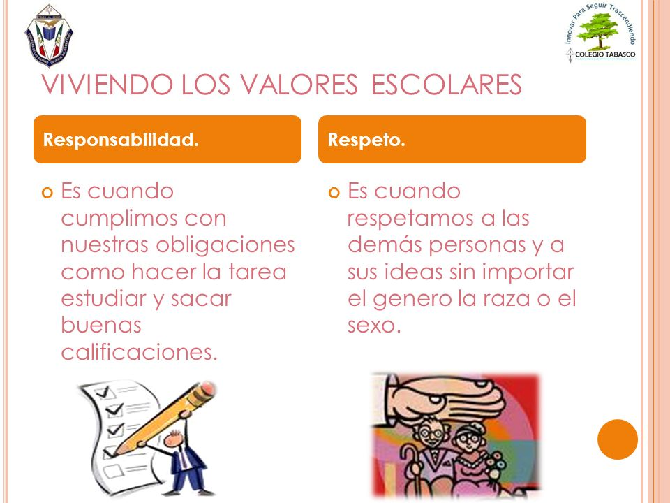 VIVIENDO LOS VALORES ESCOLARES