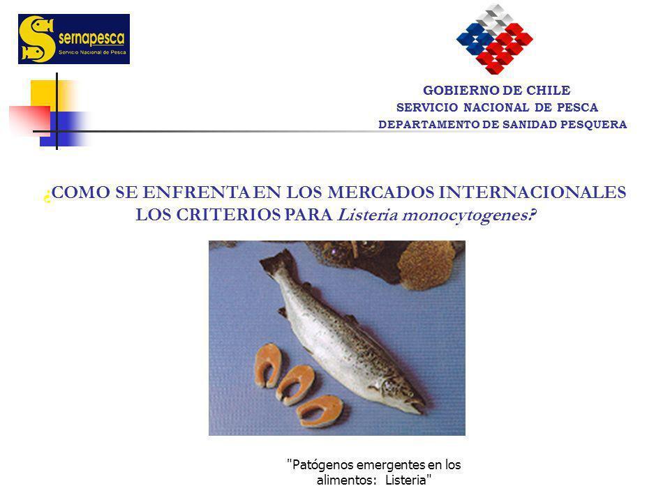SERVICIO NACIONAL DE PESCA DEPARTAMENTO DE SANIDAD PESQUERA