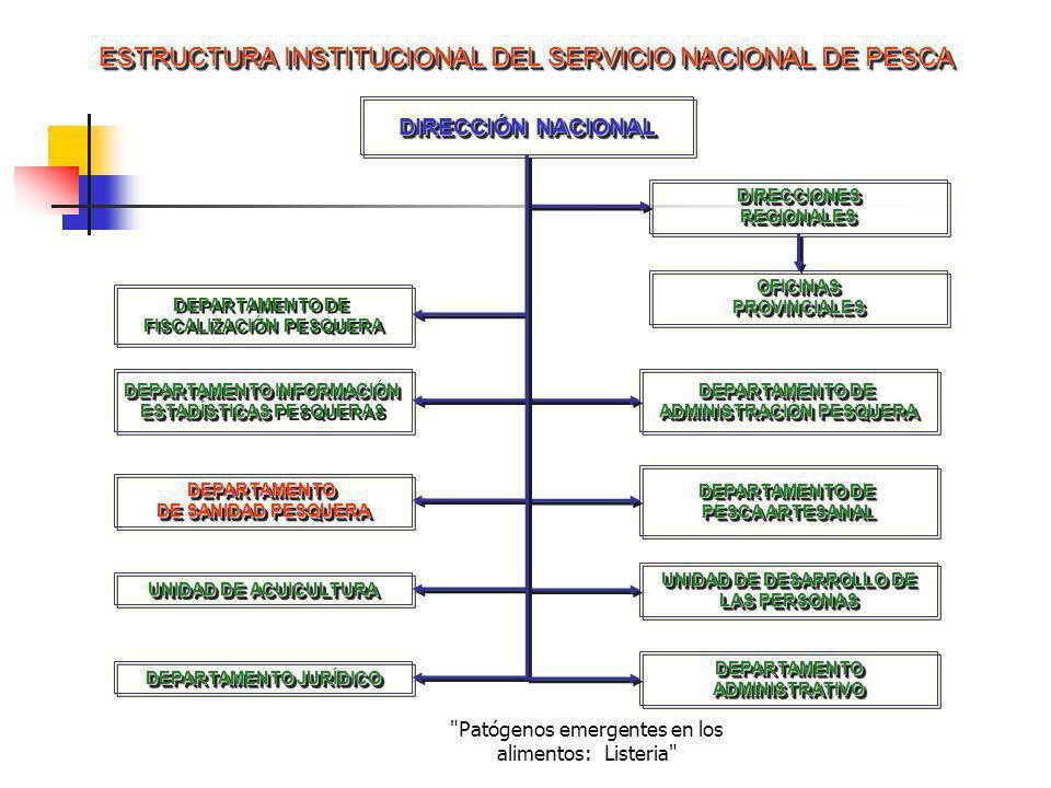ESTRUCTURA INSTITUCIONAL DEL SERVICIO NACIONAL DE PESCA