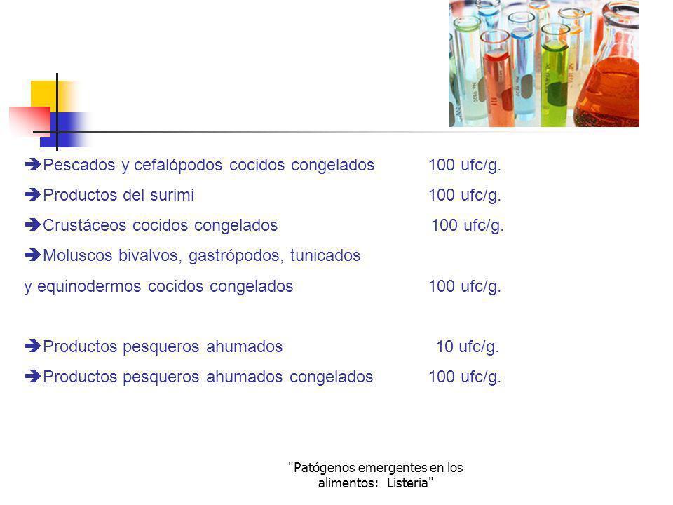 Patógenos emergentes en los alimentos: Listeria
