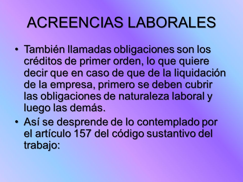 ACREENCIAS LABORALES