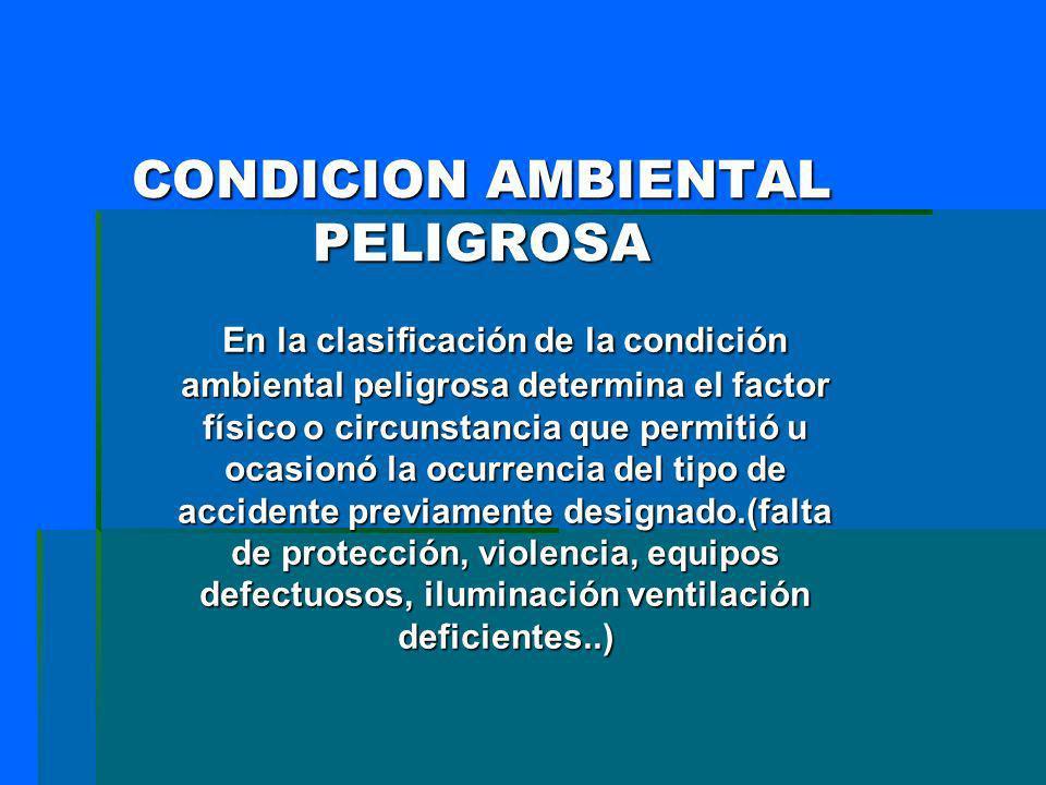 CONDICION AMBIENTAL PELIGROSA