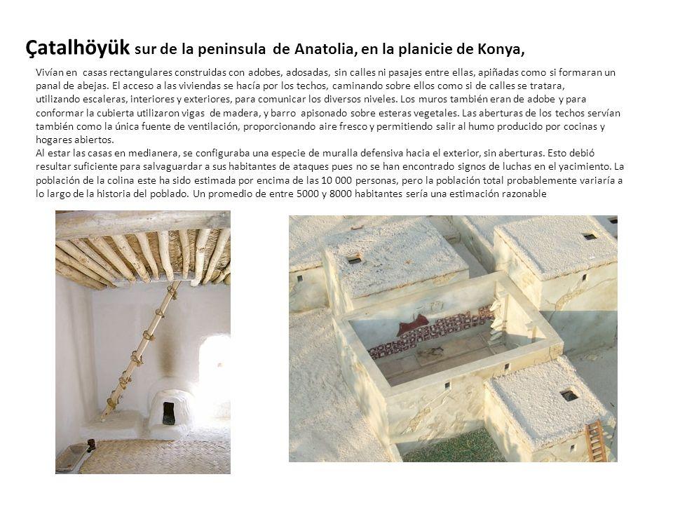 Çatalhöyük sur de la peninsula de Anatolia, en la planicie de Konya,