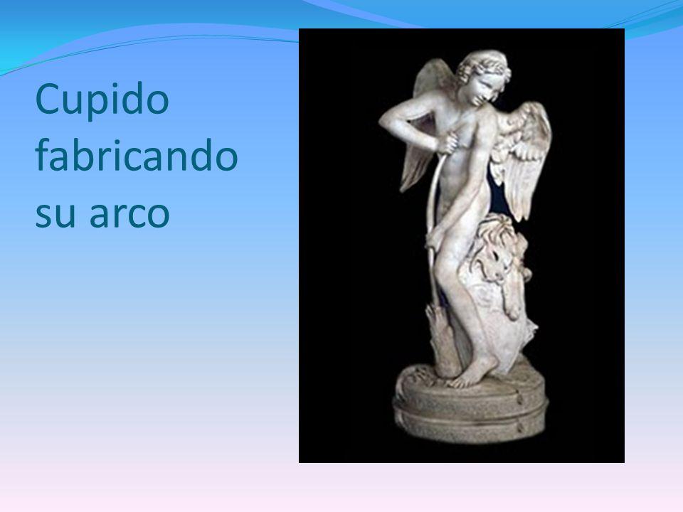 Cupido fabricando su arco