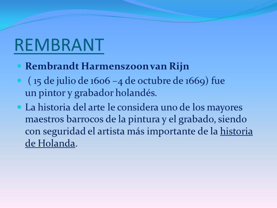 REMBRANT Rembrandt Harmenszoon van Rijn