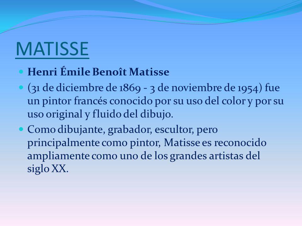 MATISSE Henri Émile Benoît Matisse
