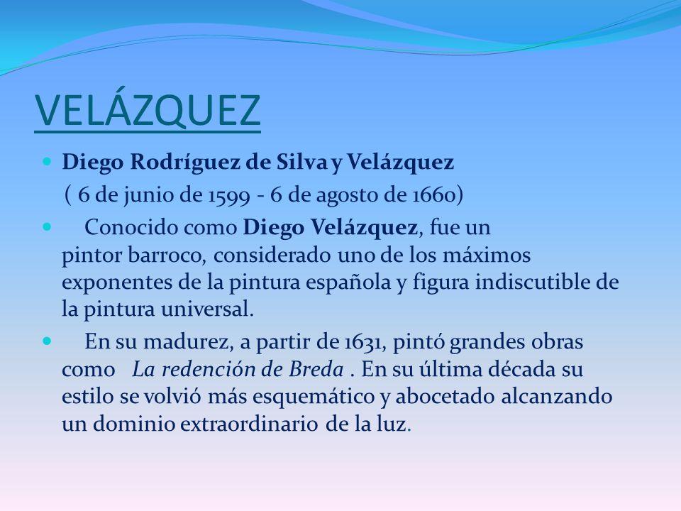 VELÁZQUEZ Diego Rodríguez de Silva y Velázquez