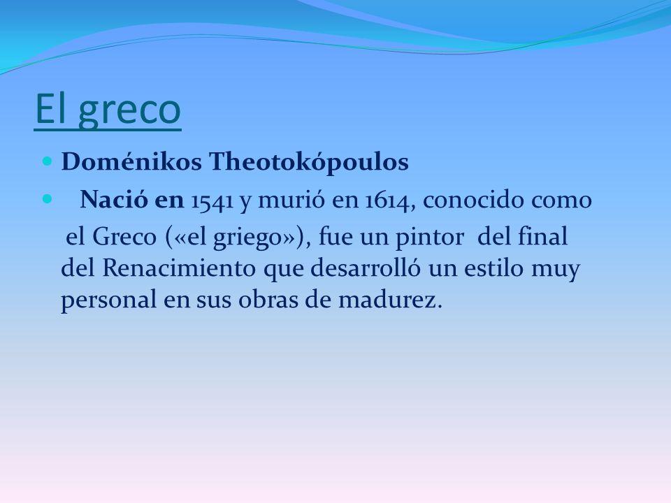 El greco Doménikos Theotokópoulos