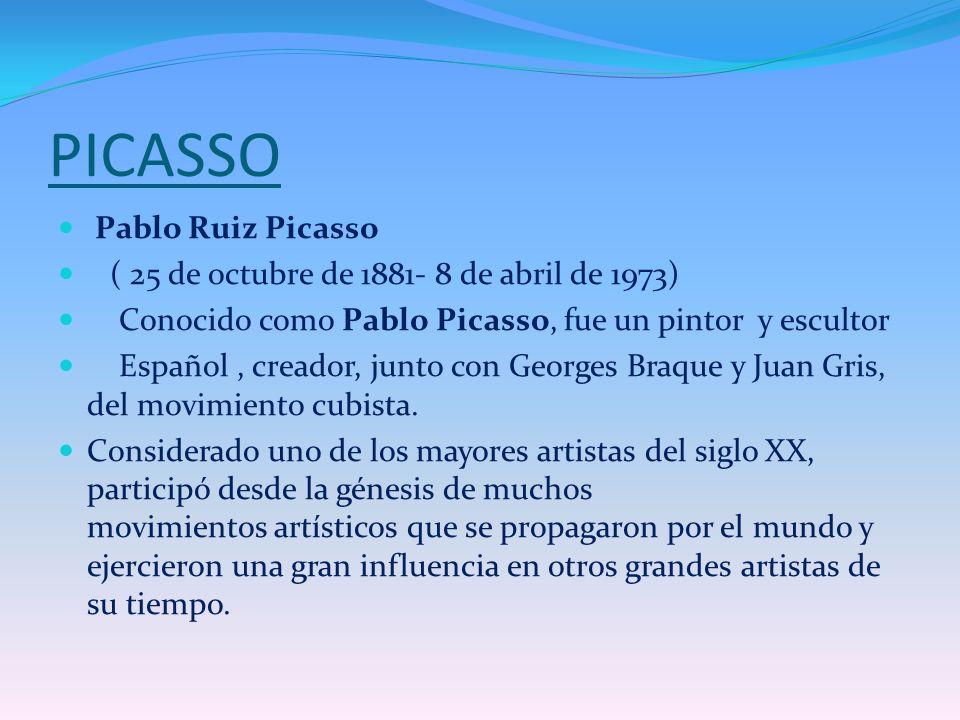 PICASSO Pablo Ruiz Picasso