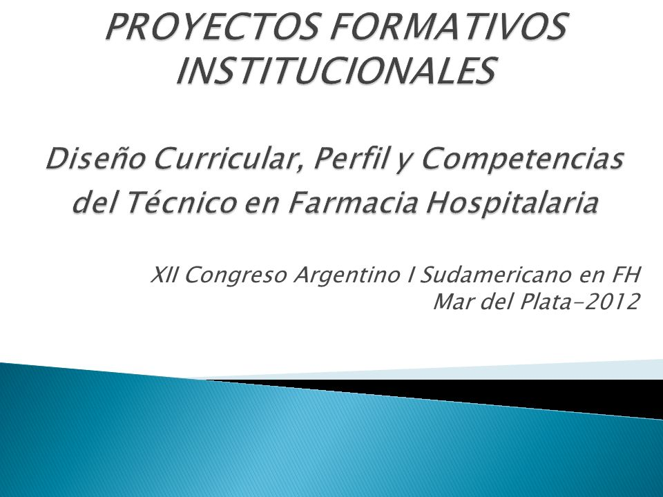 XII Congreso Argentino I Sudamericano en FH Mar del Plata-2012