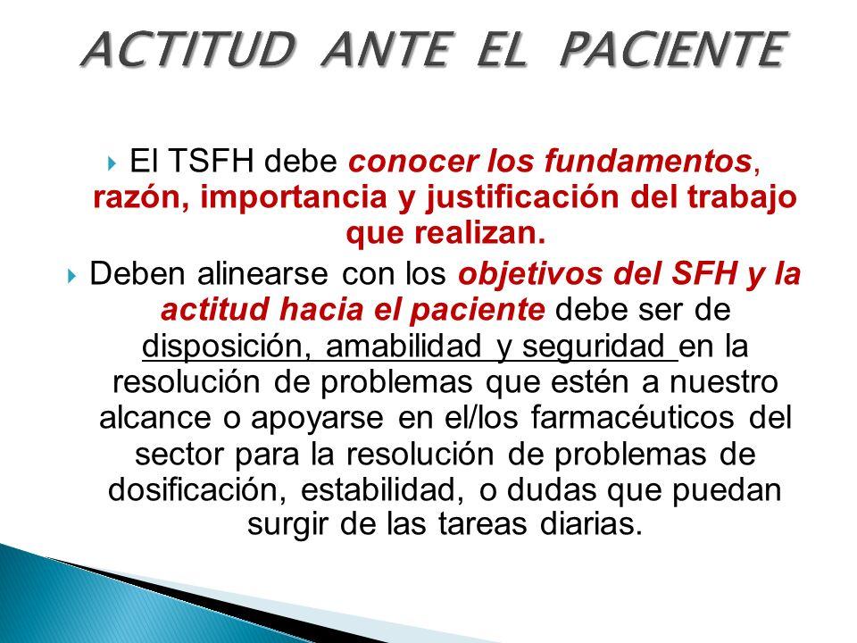 ACTITUD ANTE EL PACIENTE
