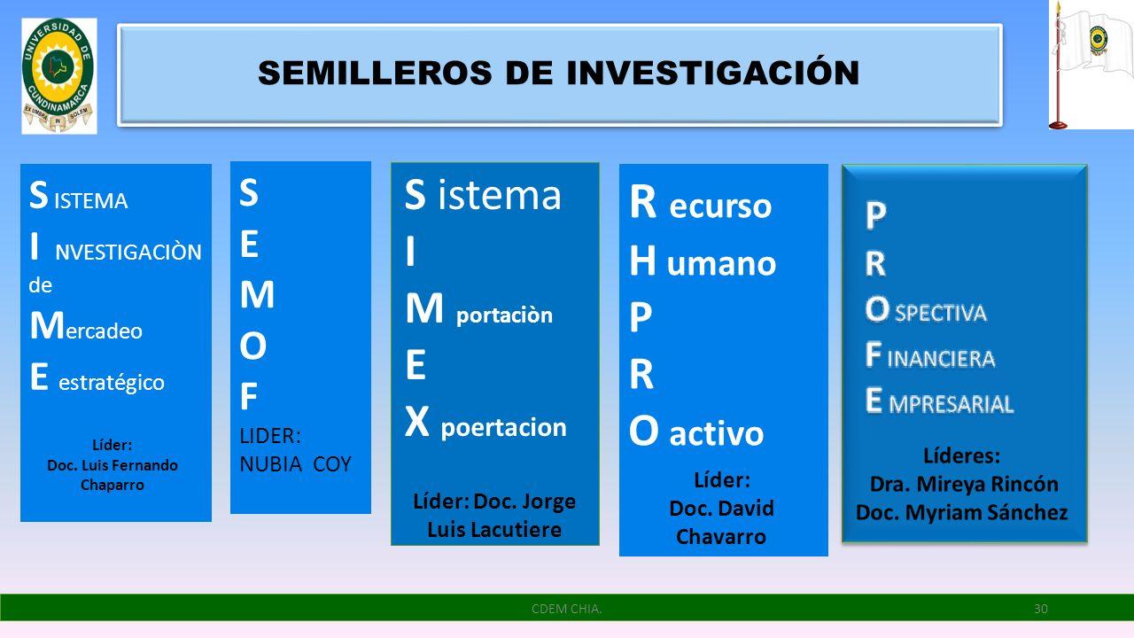 SEMILLEROS DE INVESTIGACIÓN