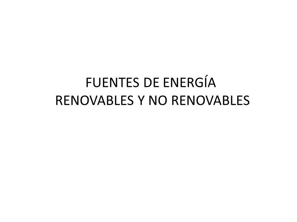 RENOVABLES Y NO RENOVABLES