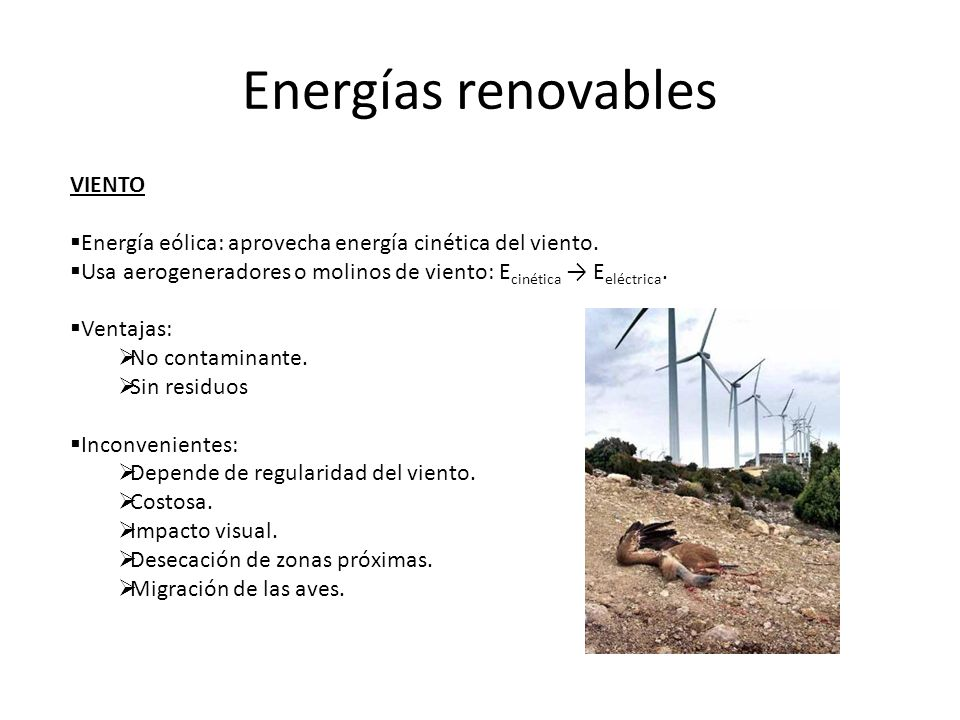 Energías renovables VIENTO