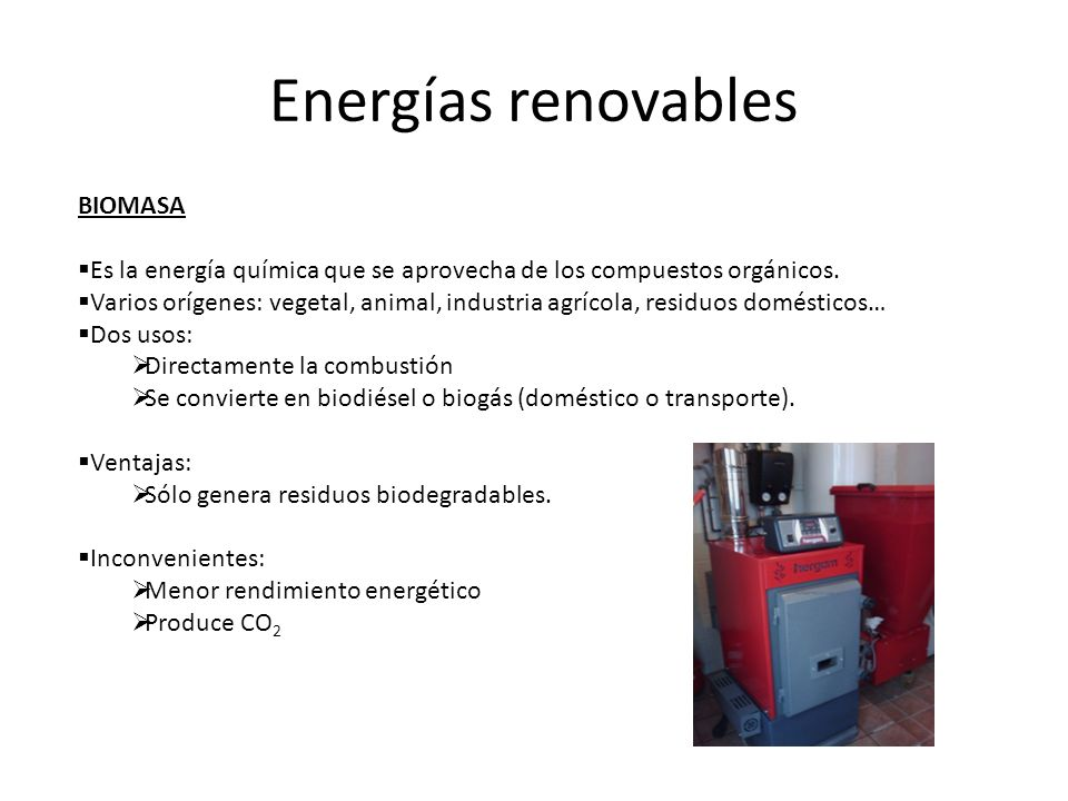 Energías renovables BIOMASA