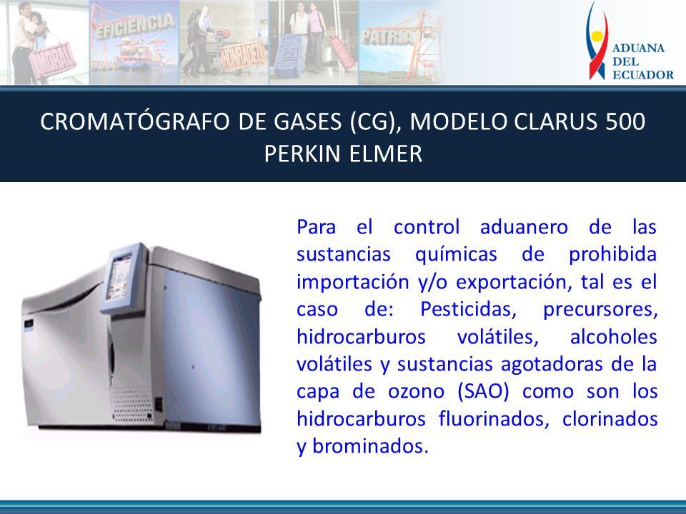CROMATÓGRAFO DE GASES (CG), MODELO CLARUS 500 PERKIN ELMER
