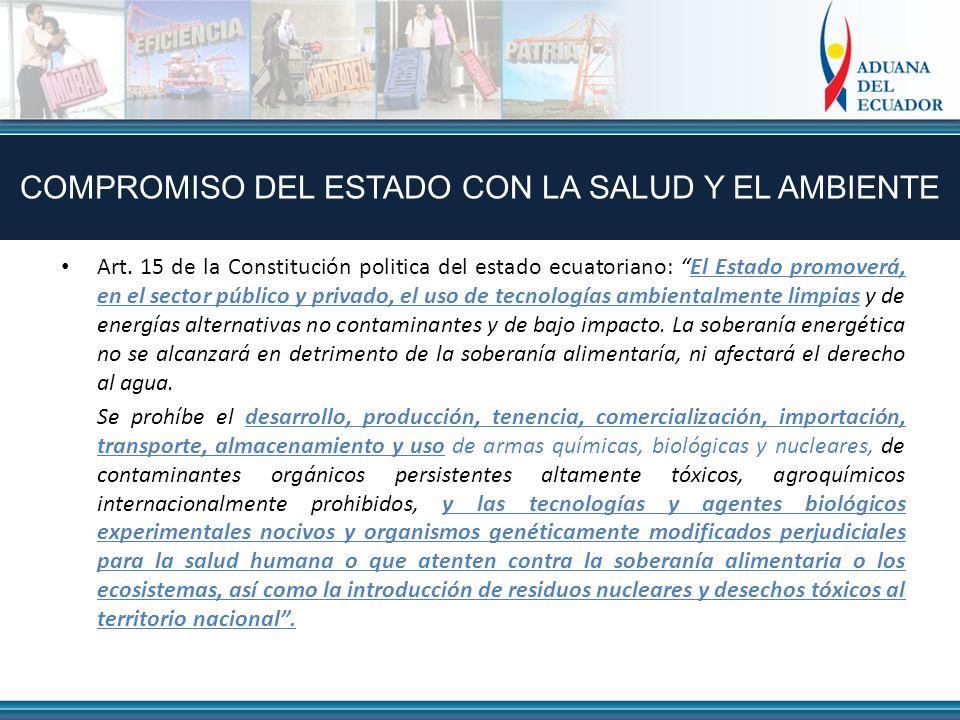 COMPROMISO DEL ESTADO CON LA SALUD Y EL AMBIENTE