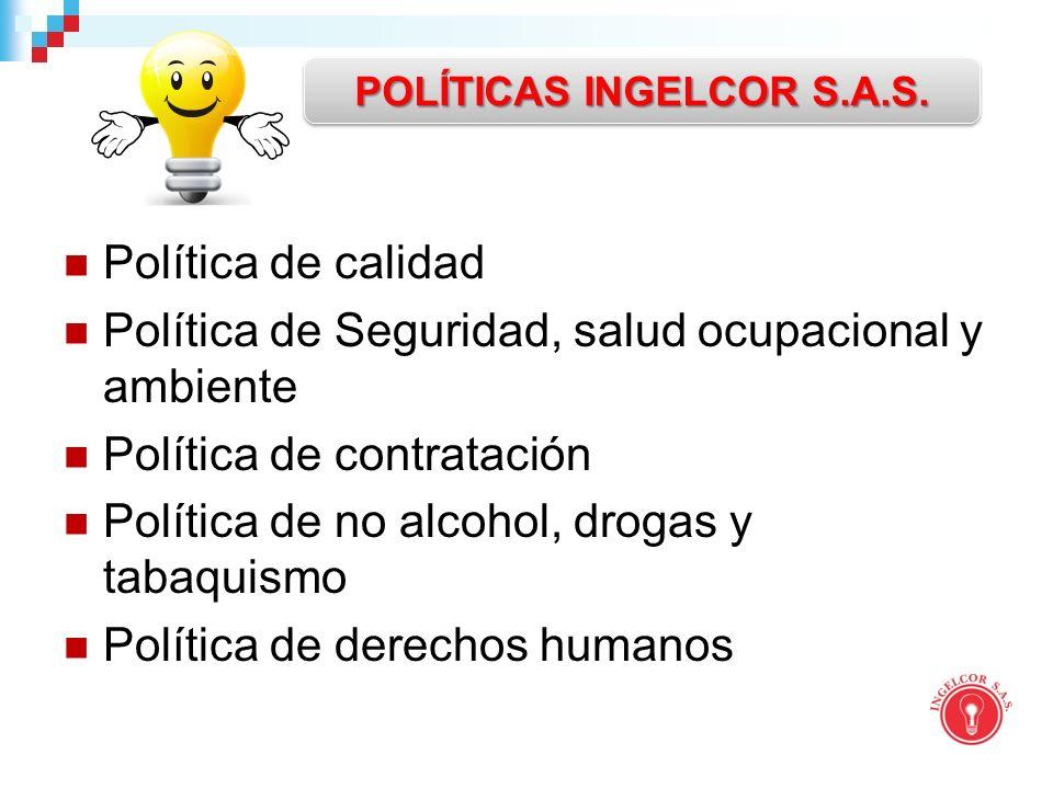 POLÍTICAS INGELCOR S.A.S.