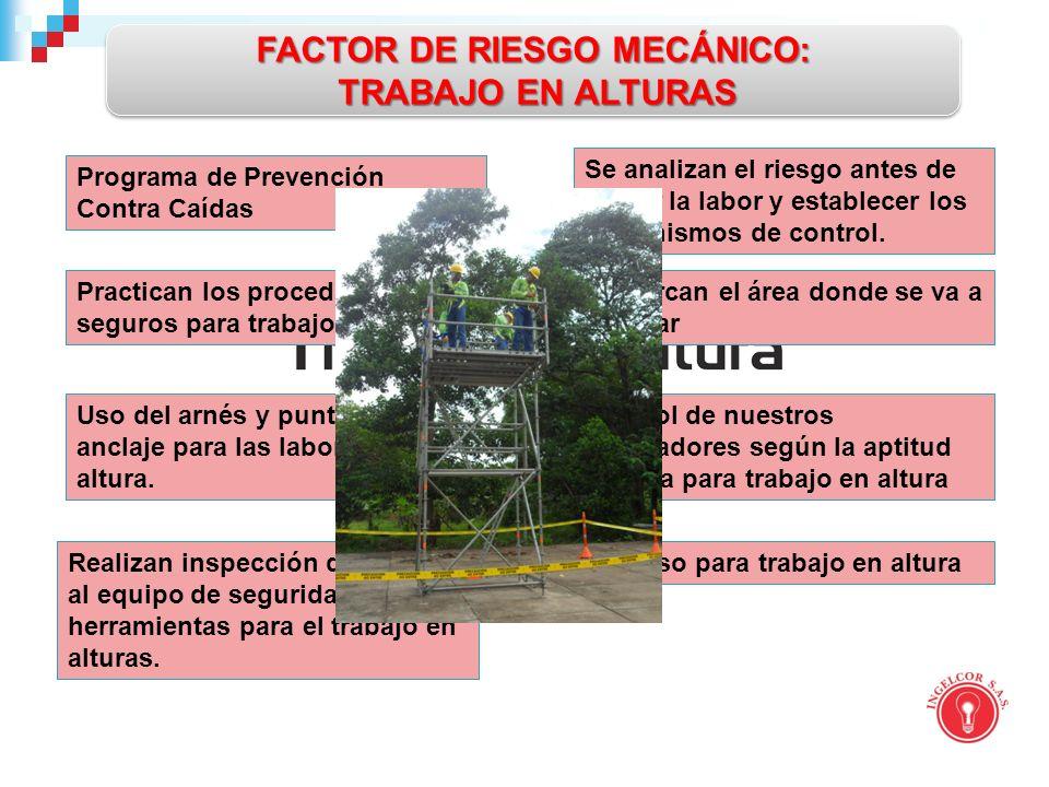 FACTOR DE RIESGO MECÁNICO: