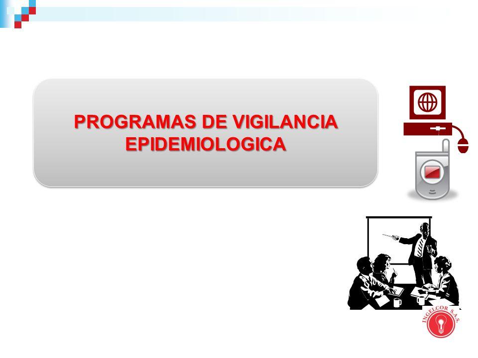 PROGRAMAS DE VIGILANCIA EPIDEMIOLOGICA