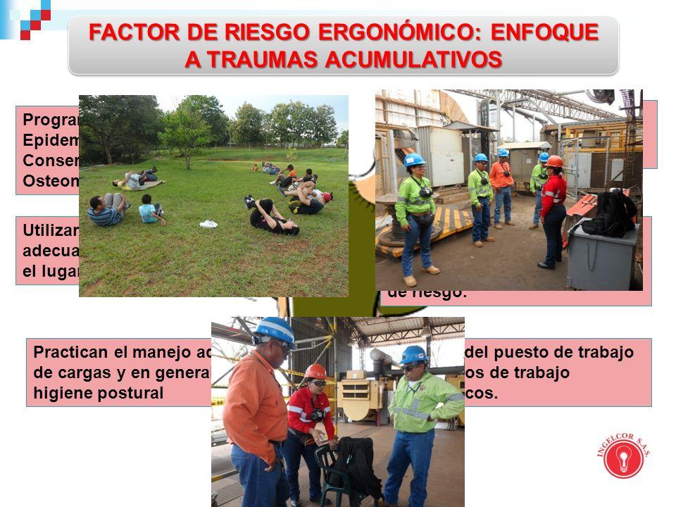 FACTOR DE RIESGO ERGONÓMICO: ENFOQUE A TRAUMAS ACUMULATIVOS