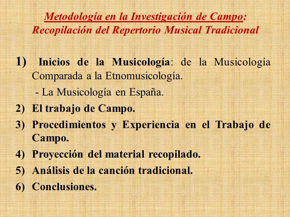Metodología en la Investigación de Campo: Recopilación del Repertorio Musical Tradicional