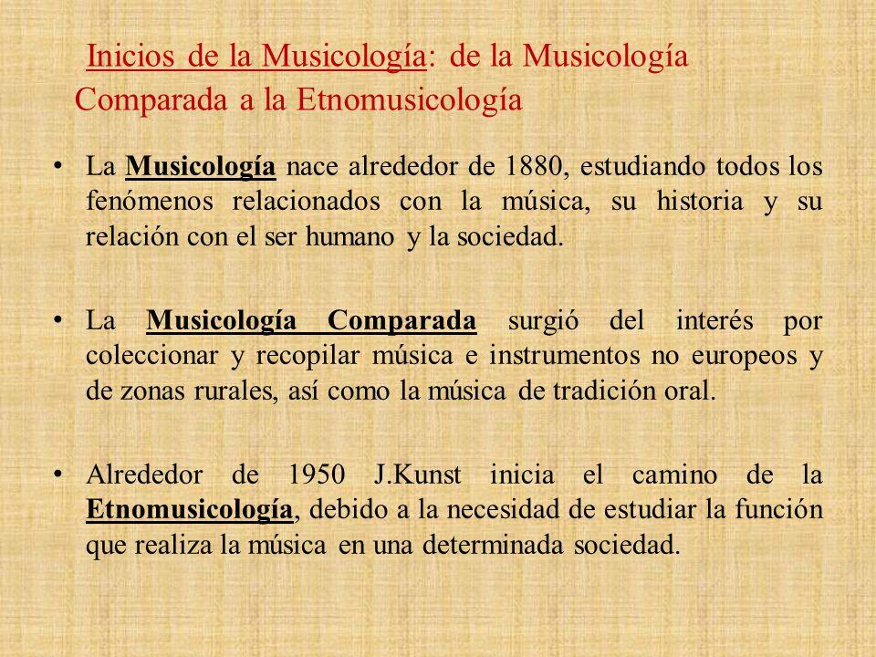 Inicios de la Musicología: de la Musicología Comparada a la Etnomusicología