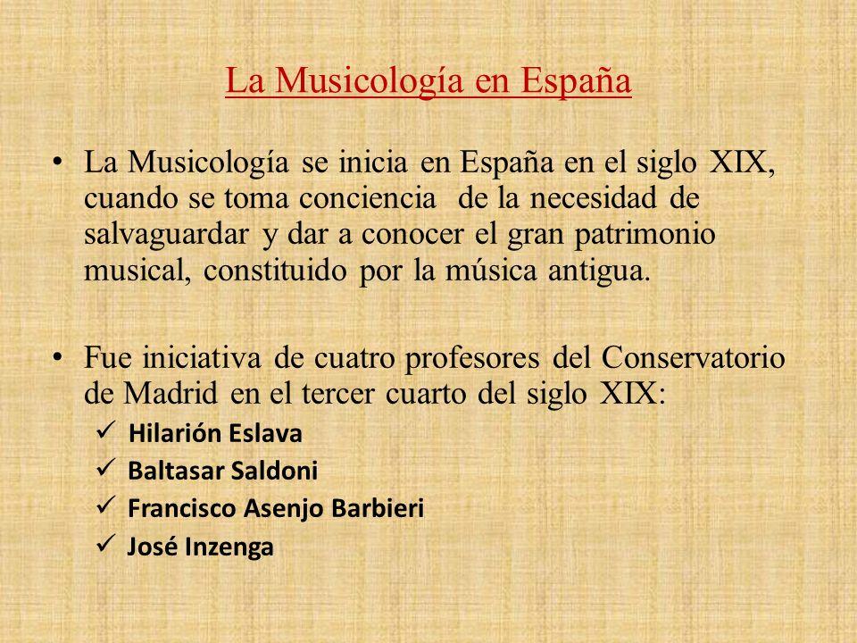 La Musicología en España