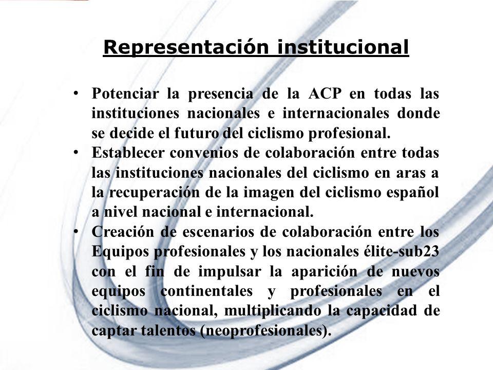 Representación institucional