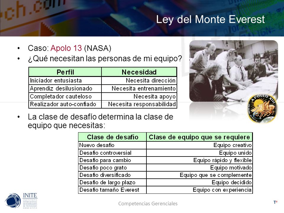 Ley del Monte Everest Caso: Apolo 13 (NASA)