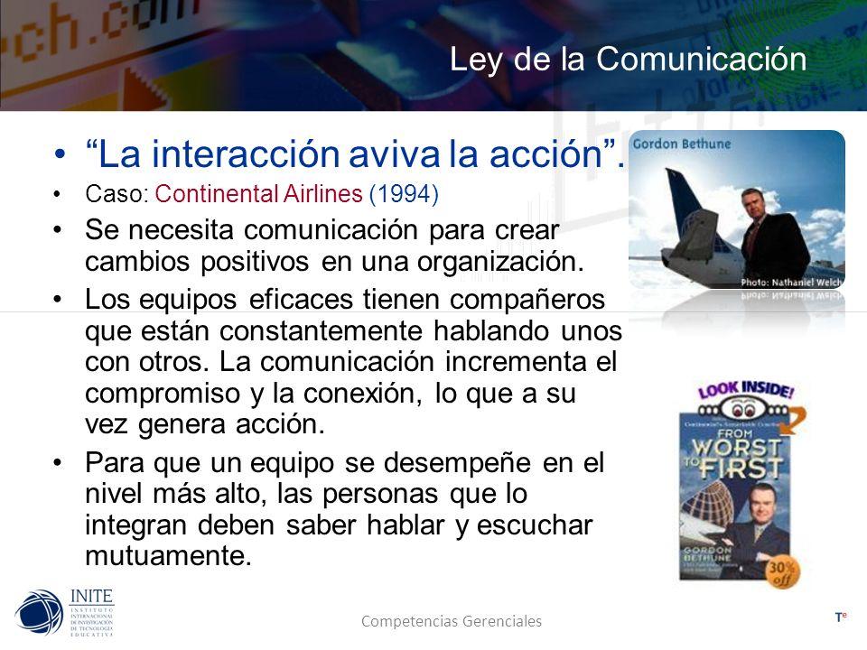 La interacción aviva la acción .