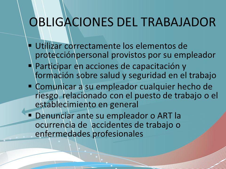 OBLIGACIONES DEL TRABAJADOR
