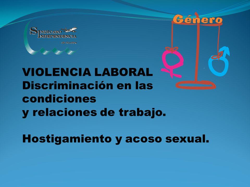 VIOLENCIA LABORAL Discriminación en las condiciones