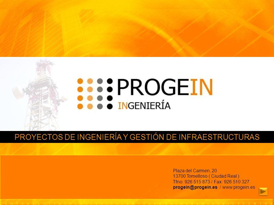 PROYECTOS DE INGENIERÍA Y GESTIÓN DE INFRAESTRUCTURAS